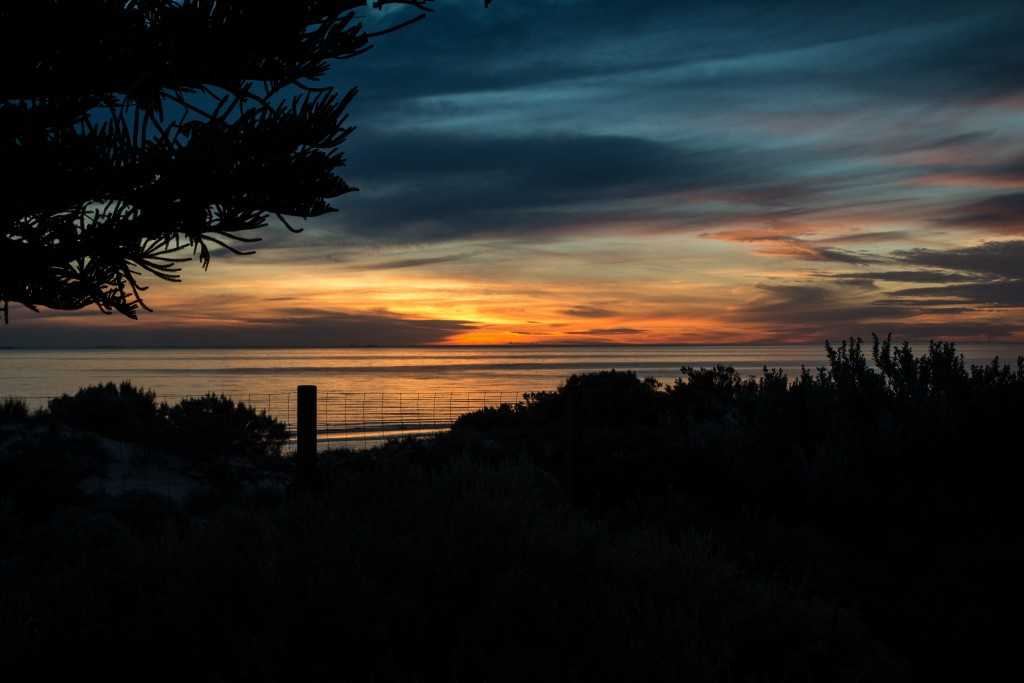 Sunset at Semaphore beach, South Australia