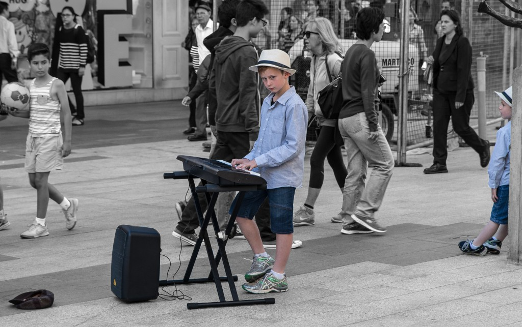 Buskers in Rundle Mall, Adelaide, South Australia