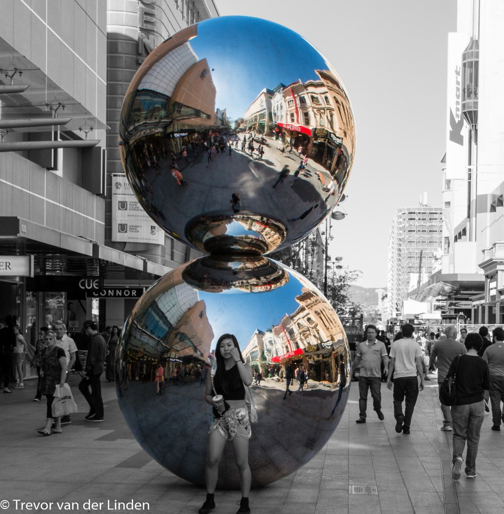 Often referred to as Don Dunstan's Balls, they come and go from time to time from the Rundle Mall in Adelaide.