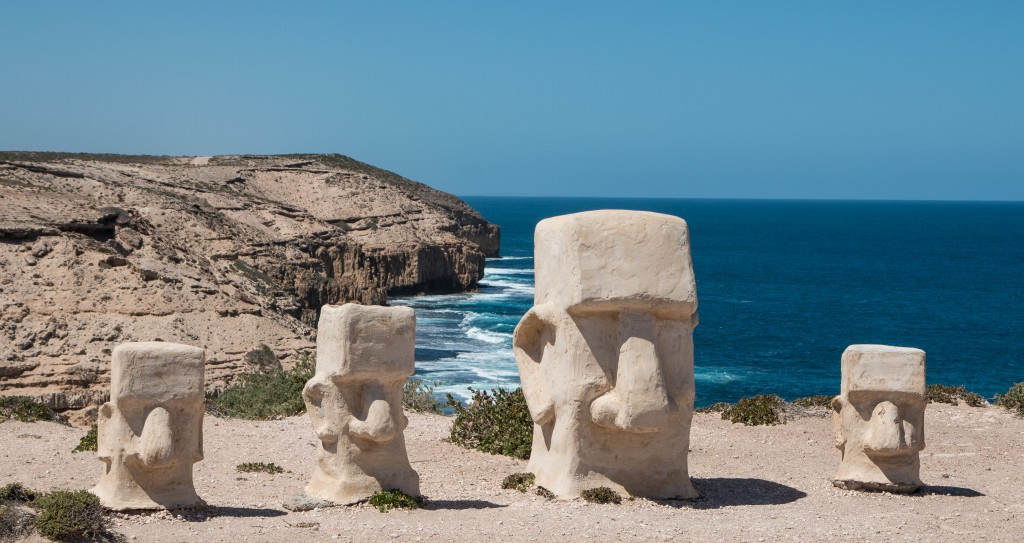Sandstone sculptures on the cliffs near Elliston, South Australia