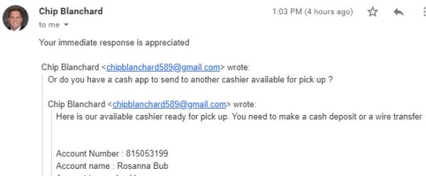Scam attempt